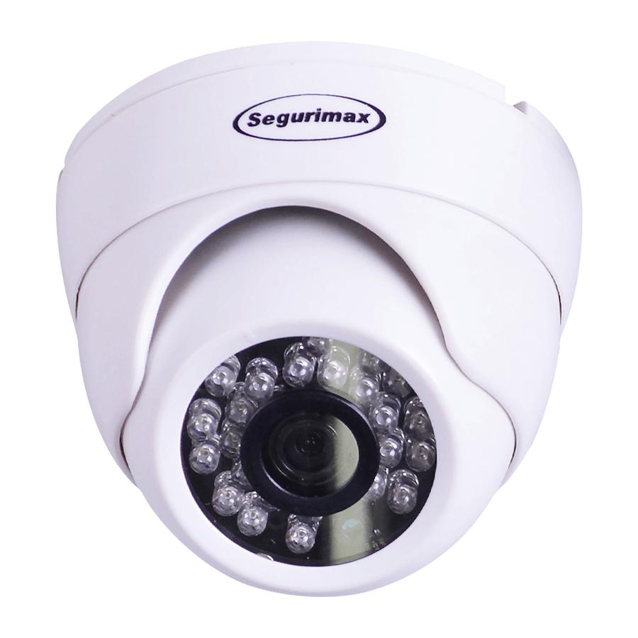 Câmera Segurimax Dome 4 em 1 HD Lente Aberta (1.0MP | 720p | 2.8mm | Plástico)  - CFTV Clube | Brasil