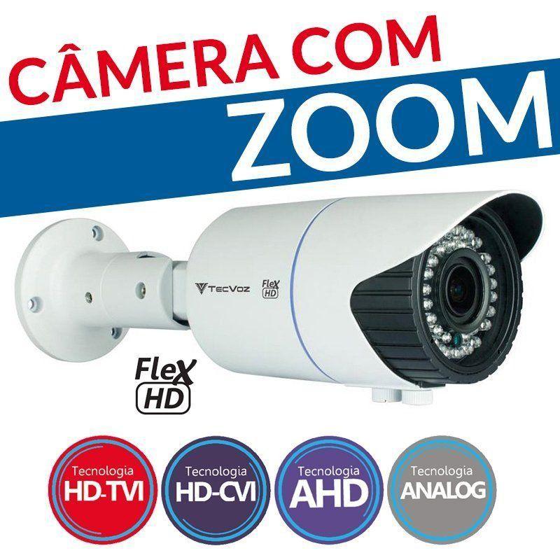 Câmera Tecvoz Varifocal com Zoom Flex HD CCB-10v (1.0MP | 720p | 2.8mm~12mm | Metal)  - CFTV Clube | Brasil