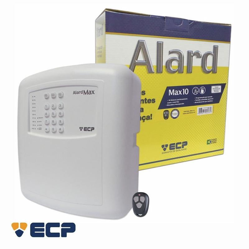 Central de Alarme ECP Alard Max 10  - CFTV Clube | Brasil