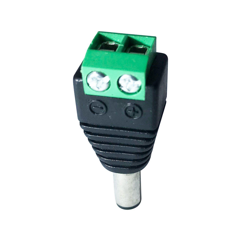Conector P4 Macho com Borne para CFTV  com Indicador Positivo e Negativo  - CFTV Clube | Brasil