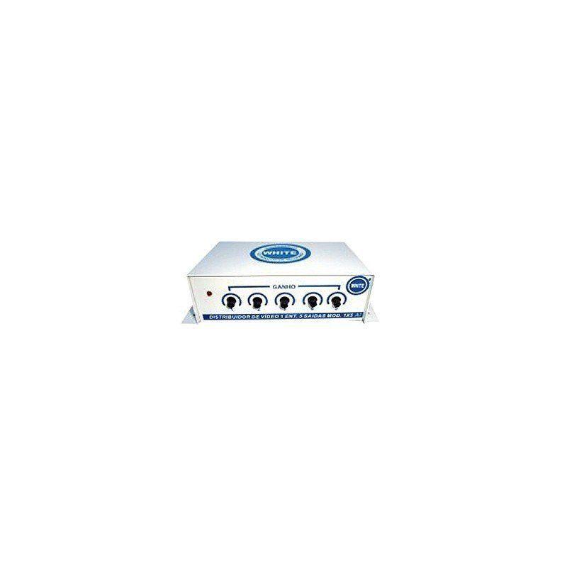 Distribuidor amplificador de sinal de vídeo 5 saídas
