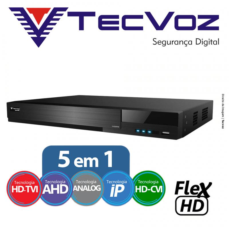 DVR Tecvoz 08 Canais Flex HD Alta Resolução TW-E308  - CFTV Clube | Brasil