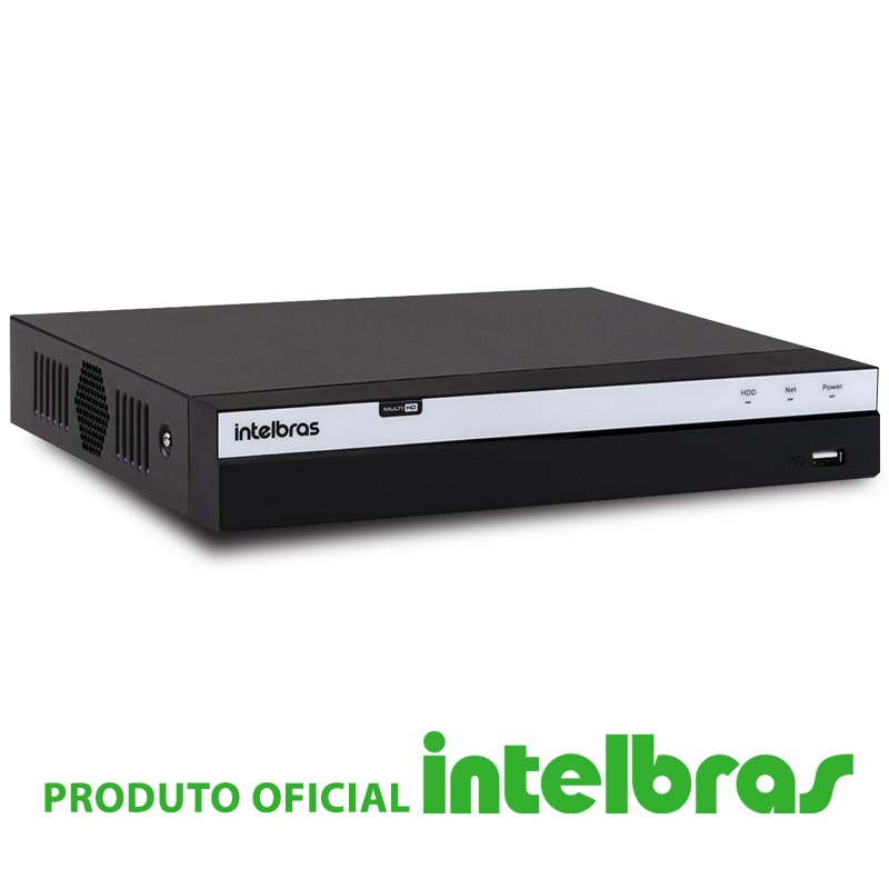 DVR Intelbras 04 Canais Multi HD Full HD MHDX 3004  - CFTV Clube | Brasil