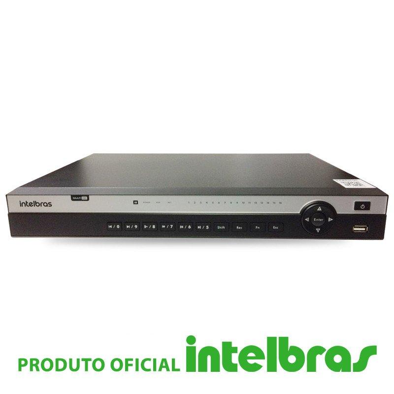 DVR Intelbras 16 Canais Multi HD Full HD MHDX 5016  - CFTV Clube | Brasil