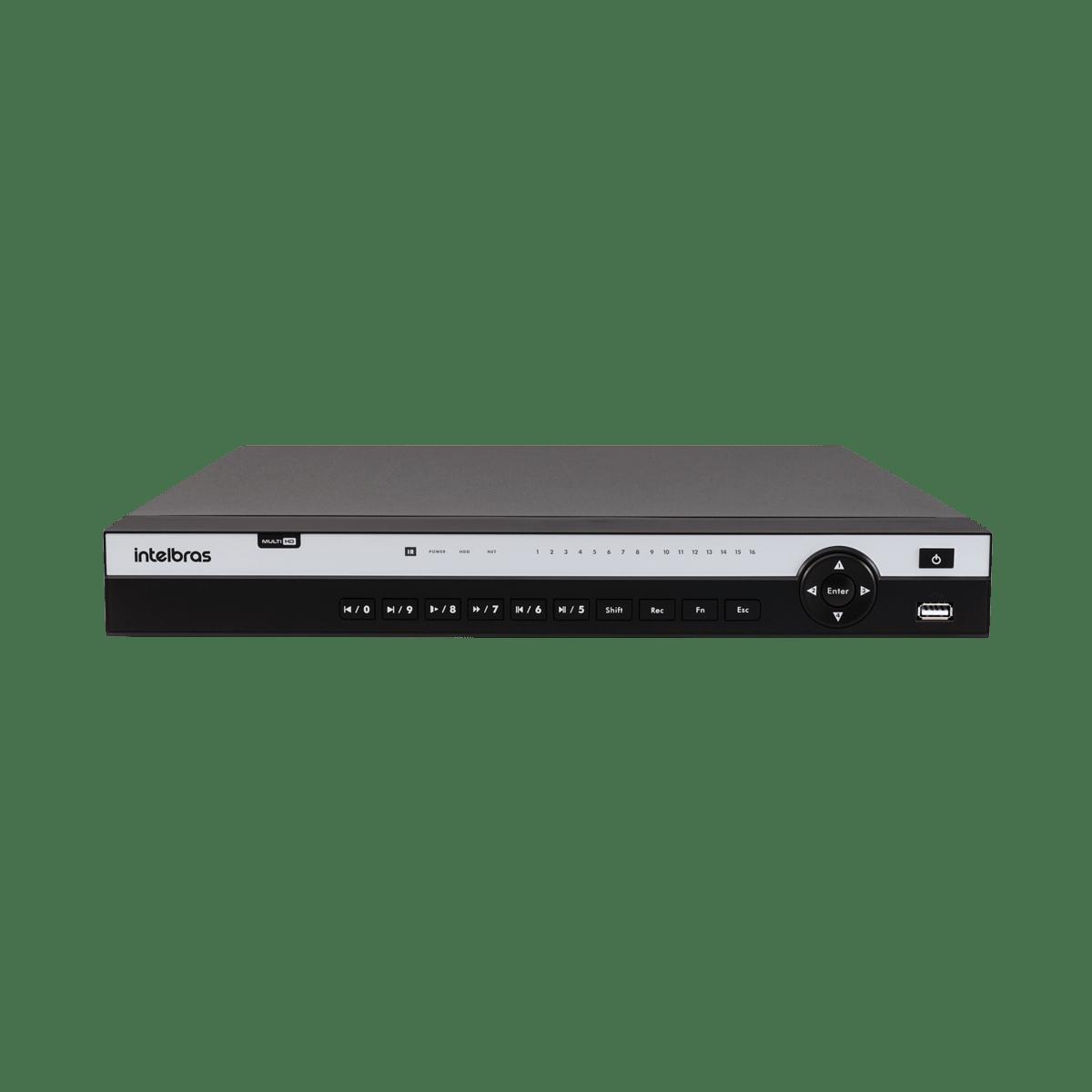 DVR Intelbras MHDX 5116 16 Canais Resolução 4K Multi HD  - CFTV Clube | Brasil
