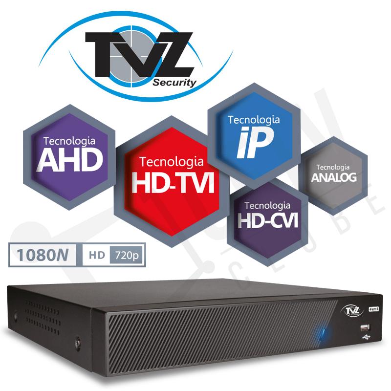 DVR TVZ 08 Canais Flex HD Alta Resolução 4VR-2008  - CFTV Clube | Brasil