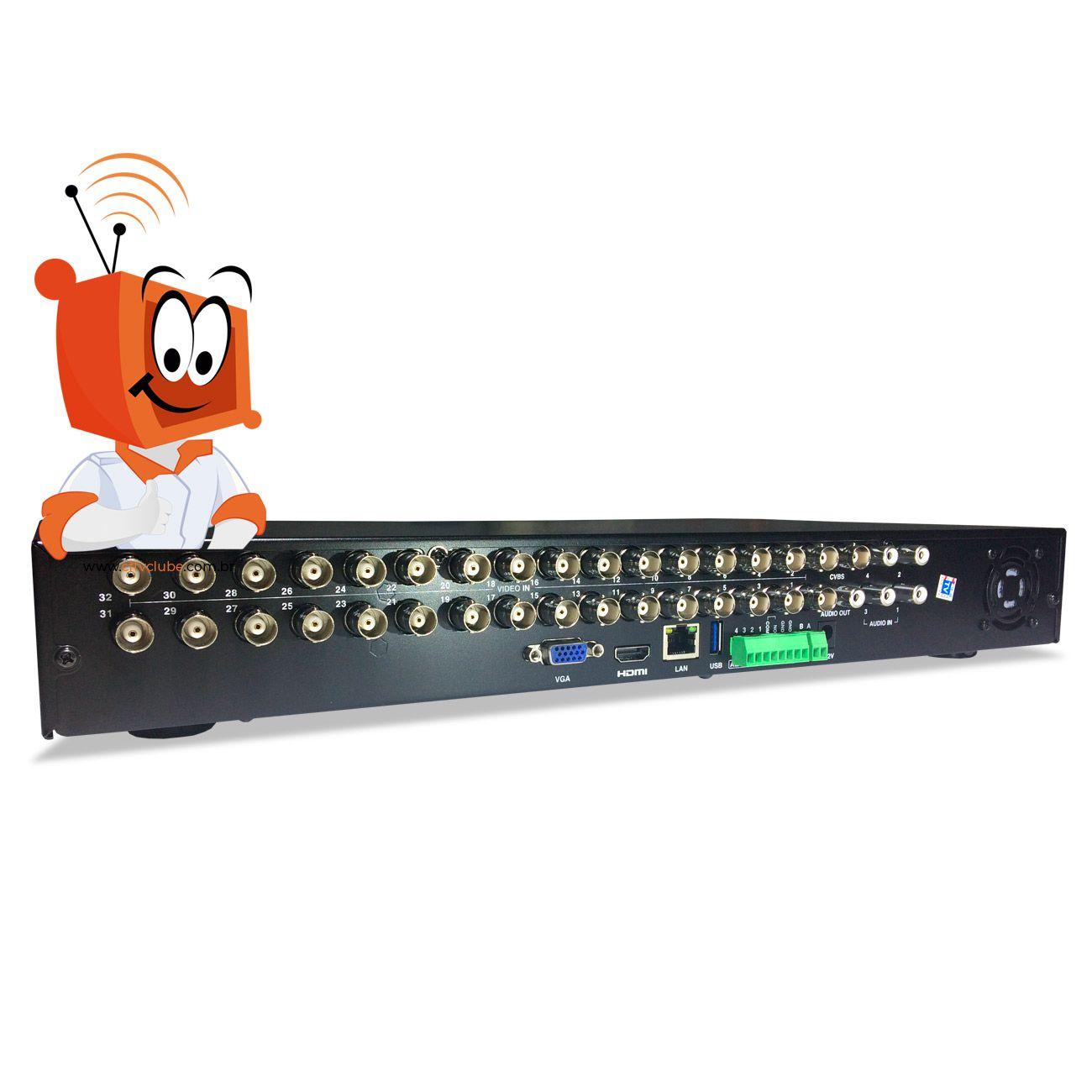 DVR Stand Alone Digital Tecvoz 32 Canais Flex Full HD + 4 canais IP 4 megapixels TW-P3032  - CFTV Clube | Brasil