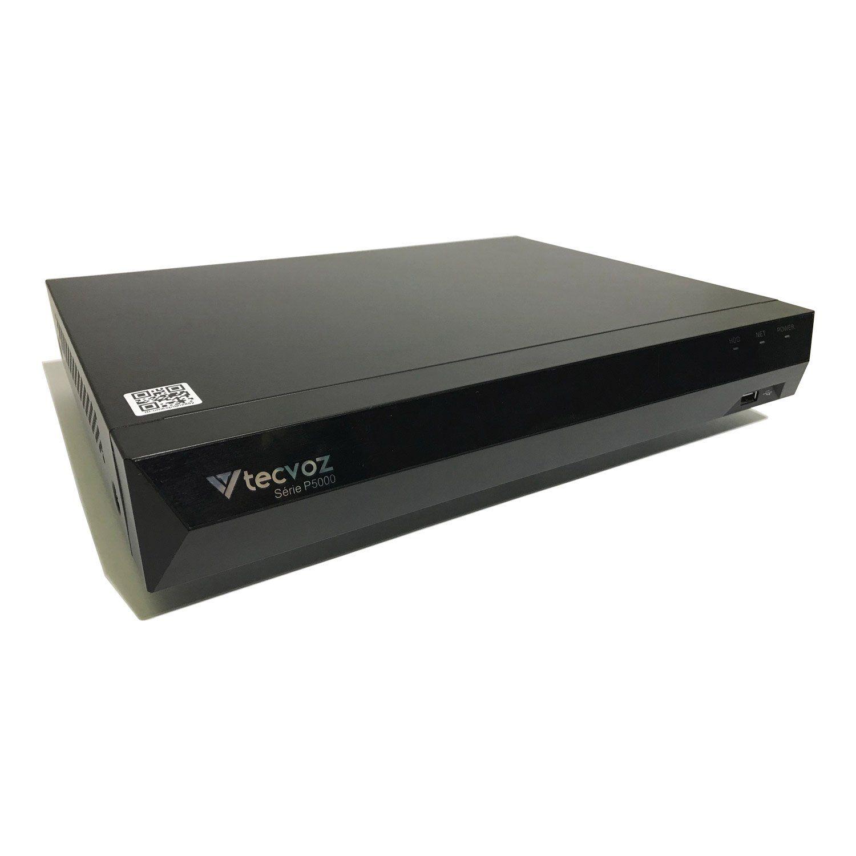 DVR Tecvoz 08 Canais Flex HD Linha Inteligente TV-P5008  - CFTV Clube | Brasil