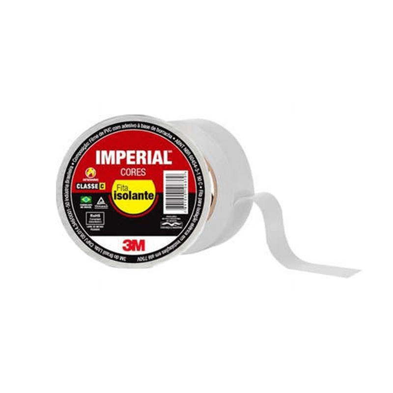 Fita Isolante Imperial Classe C 3M - Branco  - CFTV Clube | Brasil
