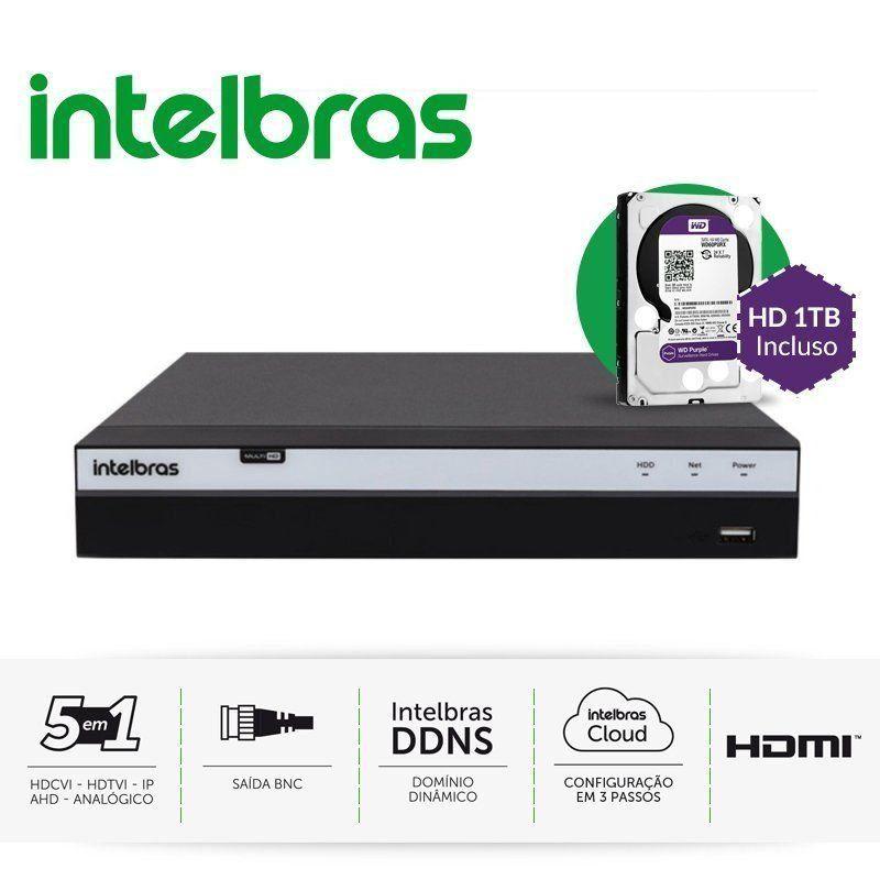 Gravador 4 Canais Full Hd Intelbras Multi Hd Mhdx 3004 Hd 1tb Incluso  - CFTV Clube | Brasil