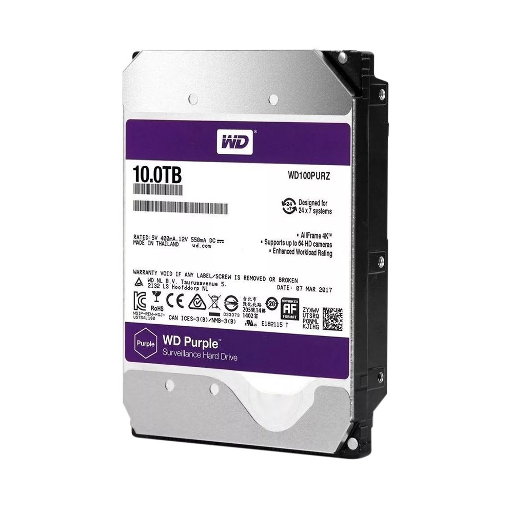 HD Sata Western Digital (WD) Purple 10TB  - CFTV Clube | Brasil