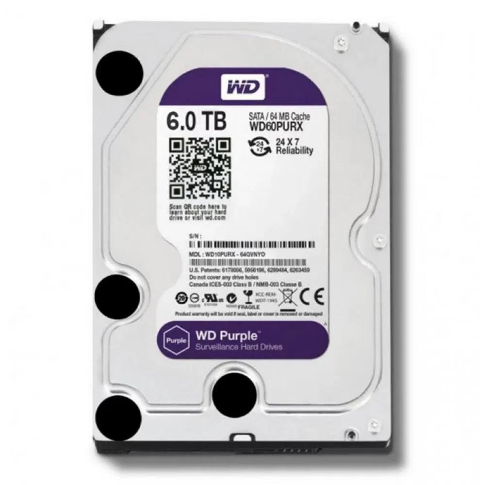 HD Sata Western Digital (WD) Purple 6TB - Sugerido pela Intelbras  - CFTV Clube | Brasil