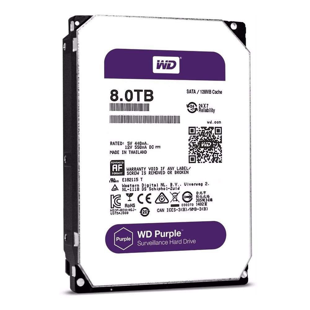 HD Sata Western Digital (WD) Purple 8TB  - CFTV Clube | Brasil
