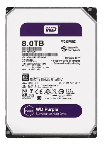 HD Sata Western Digital (WD) Purple 8TB - Sugerido pela Intelbras  - CFTV Clube | Brasil