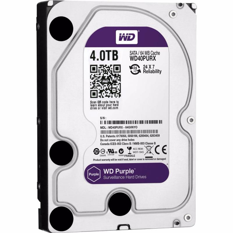 HD Sata Western Digital (WD) Purple 4TB - Sugerido pela Intelbras  - CFTV Clube | Brasil
