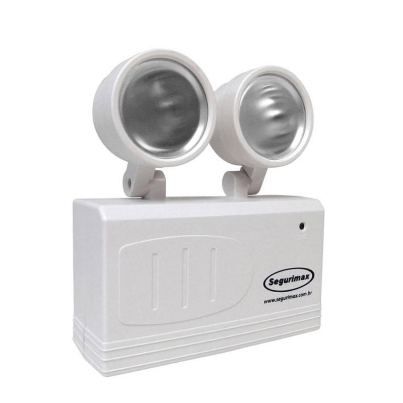 Iluminação de Emergência Segurimax Led 200 Lumens com 2 Faróis  - CFTV Clube | Brasil