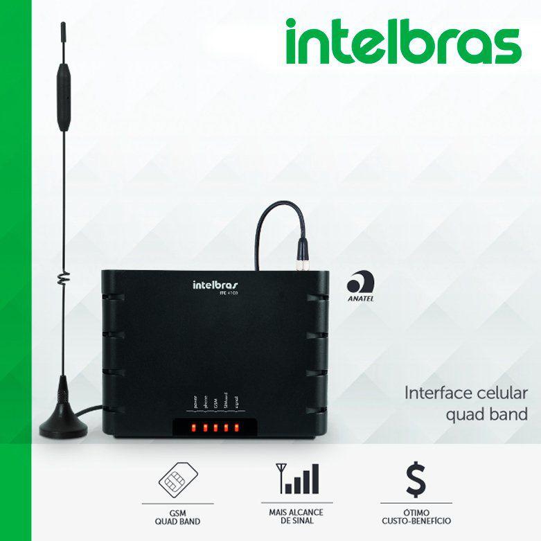 Interface Celular GSM - ITC4100 Intelbras  - CFTV Clube | Brasil
