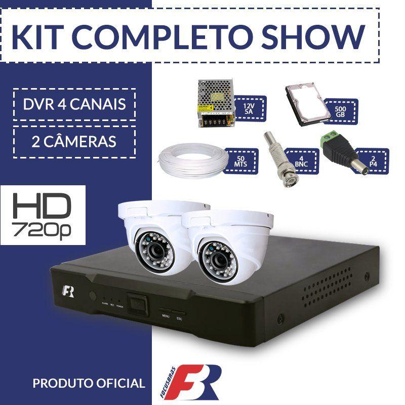 Kit 4 canais super flex Focusbras completo - 2 câmeras internas - HD  - CFTV Clube | Brasil