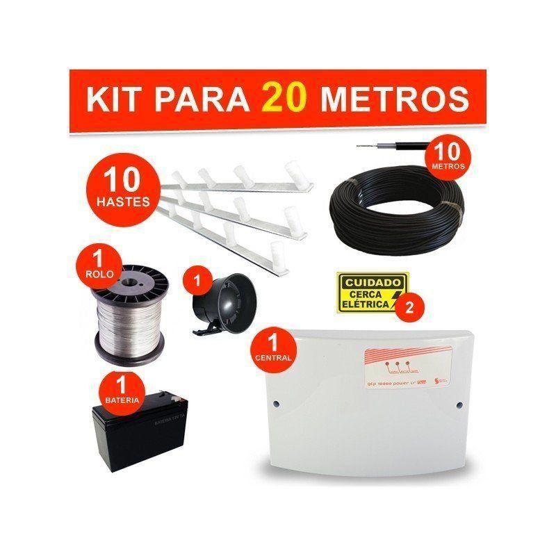 Kit completo Cerca Elétrica 4 Fios - para 20 Metros  - CFTV Clube | Brasil