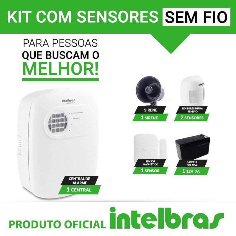 Kit de alarme Intelbras - Sensores sem fio   - CFTV Clube | Brasil