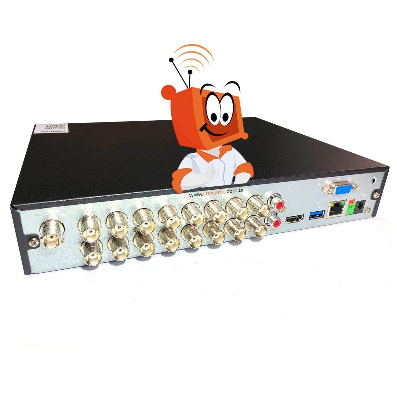 Kit de Câmeras Monitoramento Profissional Alta Definição Full HD Intelbras 16 canais MHDX 1080p - Completo  - CFTV Clube | Brasil