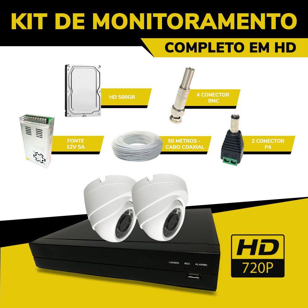 Kit de CFTV Completo Econômico em HD Filmagens Internas   - CFTV Clube | Brasil