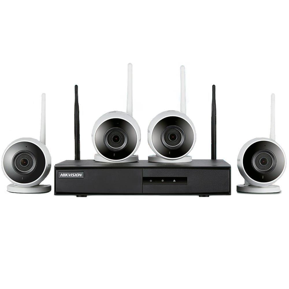 Kit De Monitoramento Hikvision Nvr 4b Wifi - 4 Câmeras Bullet+ 1 Nvr Wifi Hd 1tb - NK4W0-1T (Tb)  - CFTV Clube | Brasil