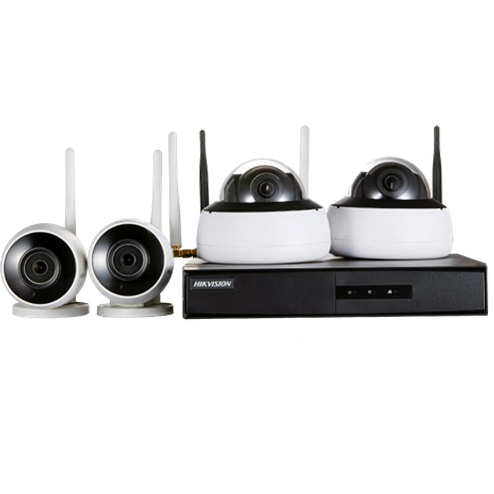 Kit de Monitoramento Hikvision NVR 4BD Wi-Fi - NK4W2-1T (TB)  - CFTV Clube   Brasil