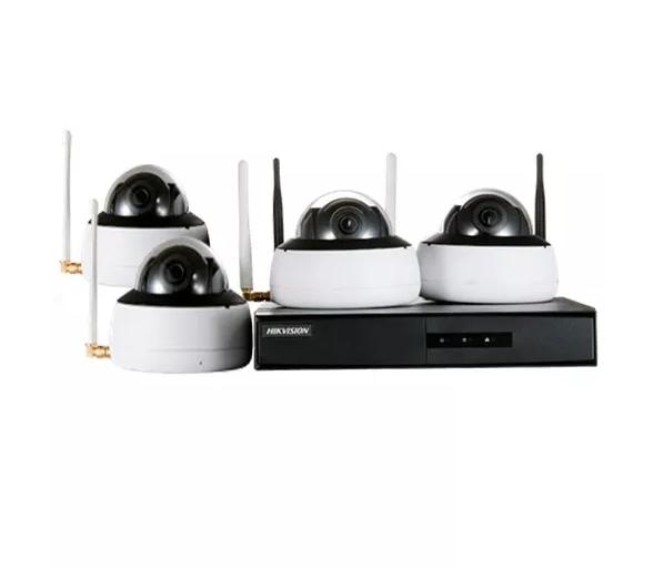 Kit de Monitoramento NVR 4D Wi-fi - 4 Câmeras DOME, 1 NVR Wi-fi com HD 1TB  - CFTV Clube | Brasil