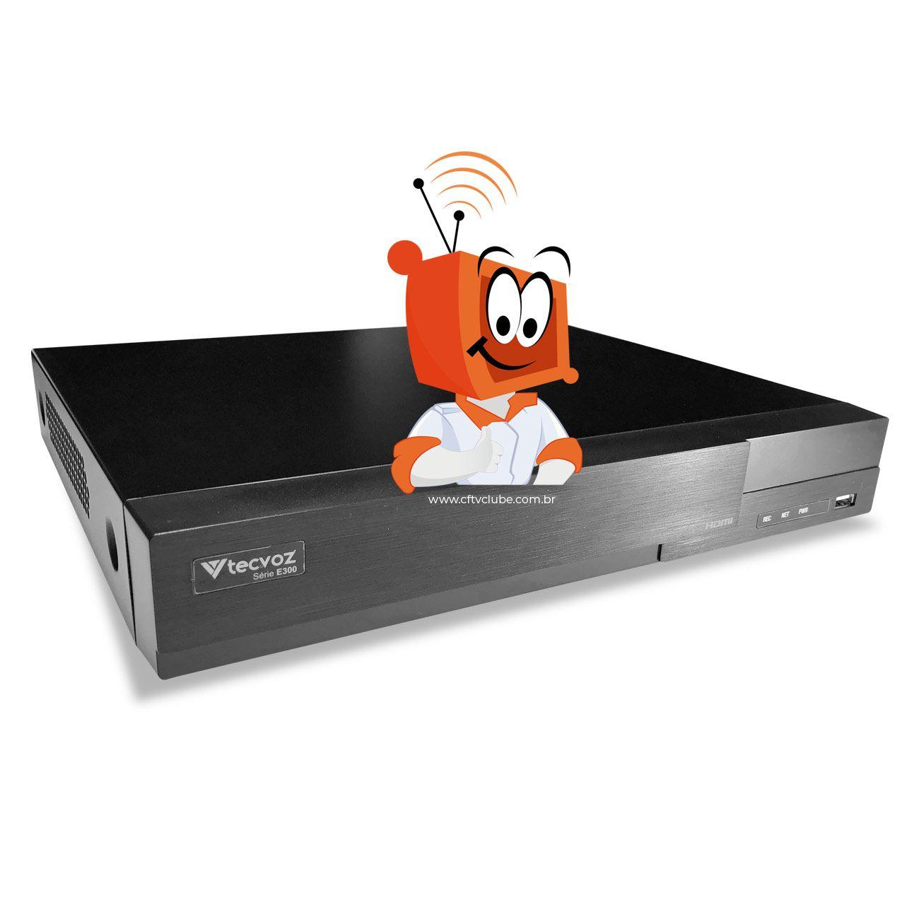 Kit de Vigilância HD Flex Tecvoz Gravador 16 Canais + tecnologia IP com Câmeras 5 Em 1 multitecnologia completo  - CFTV Clube | Brasil