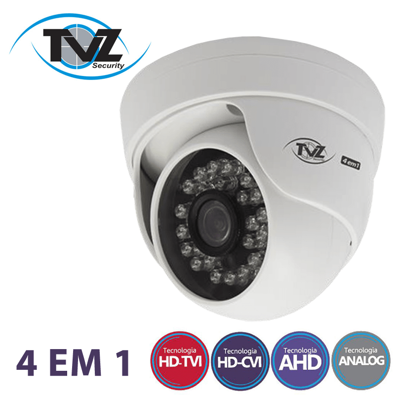 Kit Dome Super Flex Alta definição 16 Canais com 16 Câmeras Tecvoz Tvz completo  - CFTV Clube | Brasil