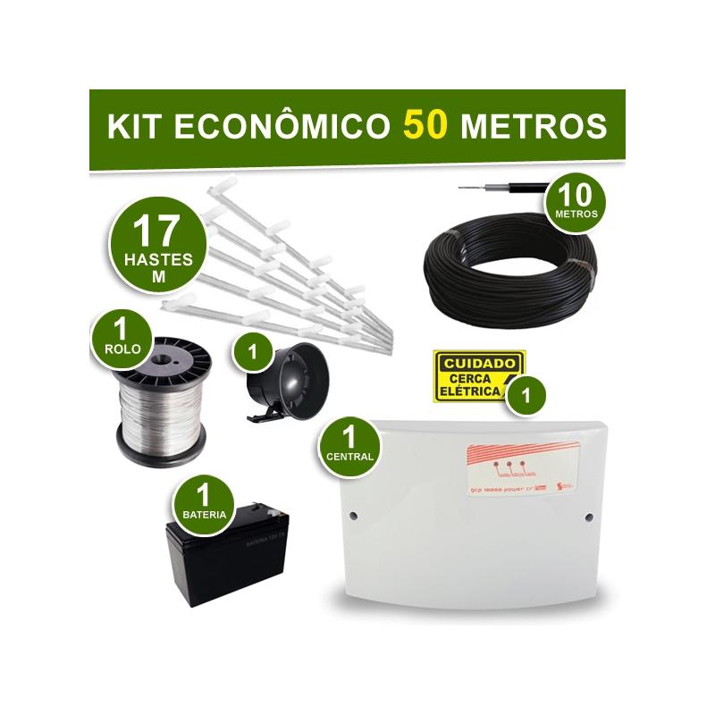 Kit Econômico completo Cerca Elétrica 4 Fios - para 50 Metros  - CFTV Clube | Brasil