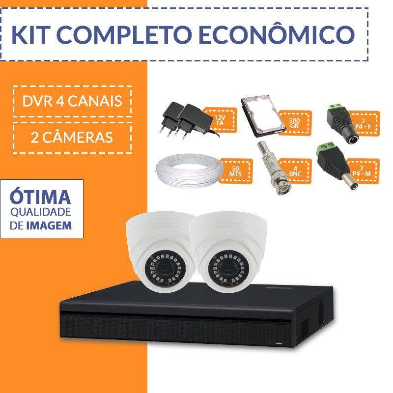 Kit Econômico Completo com 2 Câmeras Internas  - CFTV Clube | Brasil