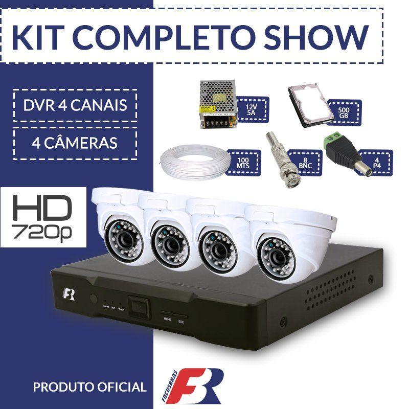 Kit Fbr Focusbras Completo em Alta Definição - 4 câmeras internas HD  - CFTV Clube | Brasil