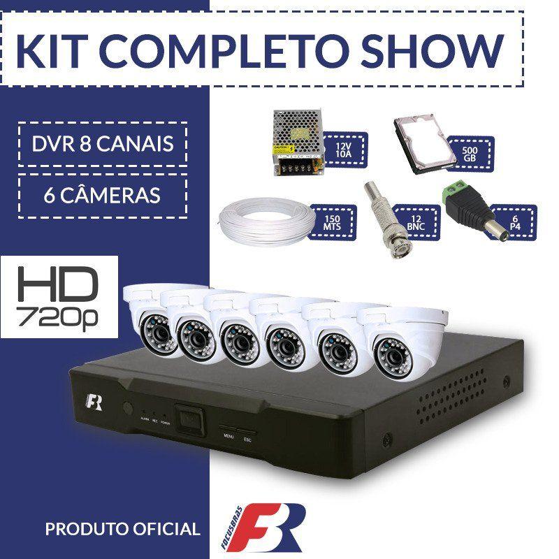 Kit Fbr Focusbras Completo em Alta Definição - 6 câmeras internas HD  - CFTV Clube | Brasil