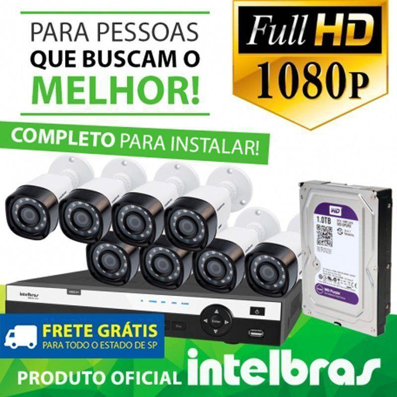 Kit Full Hd Intelbras 8 Canais - 1080p - completo  - CFTV Clube | Brasil