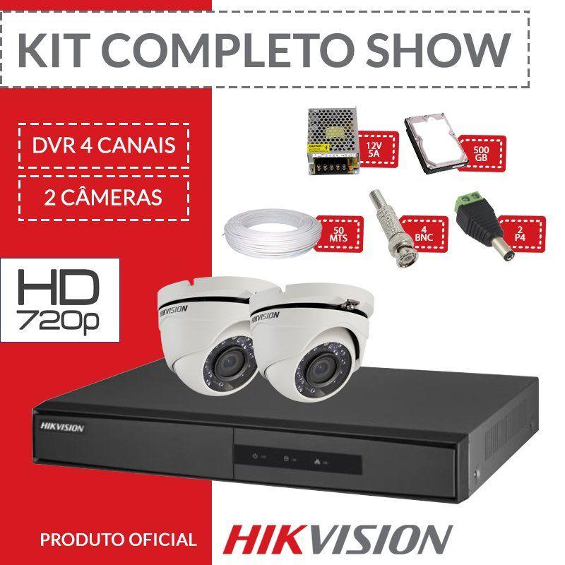 Kit Hikvision Completo em Alta Definição - com 2 Câmeras Internas HD  - CFTV Clube | Brasil