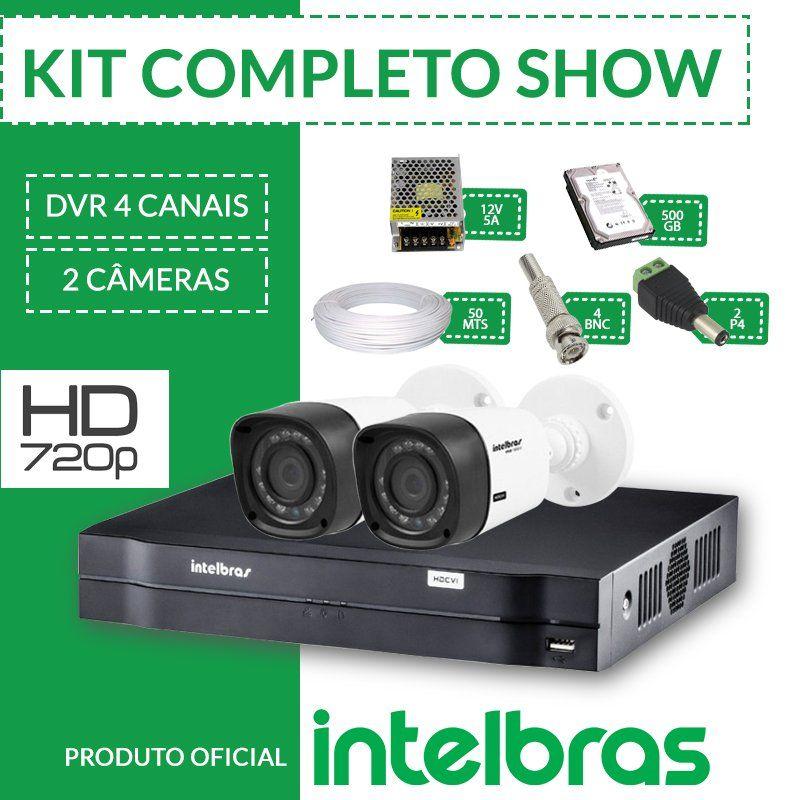 Kit Intelbras Completo Alta Definição - 2 Câmeras - Hd  - CFTV Clube | Brasil