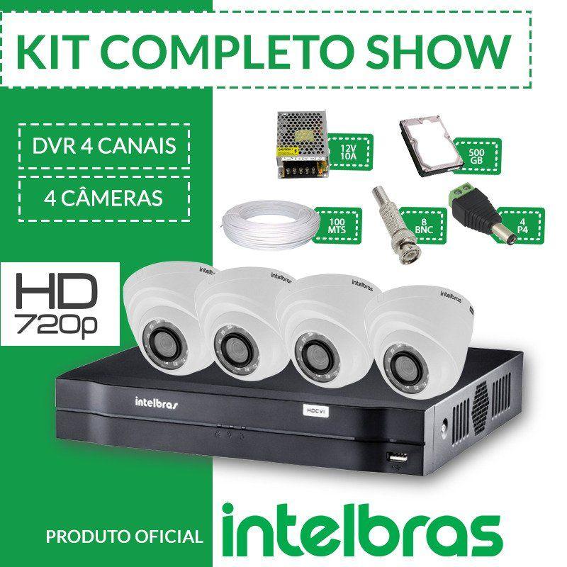 Kit Intelbras Completo Alta Definição - 4 Câmeras Internas - HD  - CFTV Clube | Brasil