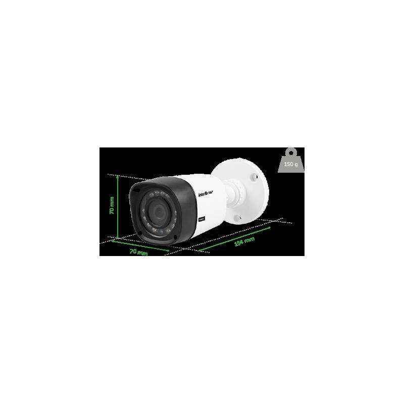 Kit Top Intelbras Completo com 8 Câmeras Bullet Externas em Alta Definição HD 1MP   - CFTV Clube | Brasil