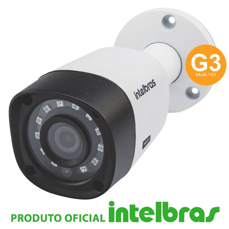 Kit Intelbras completo alta definição - DVR 8 canais c/ 4 câmeras - HD  - CFTV Clube | Brasil