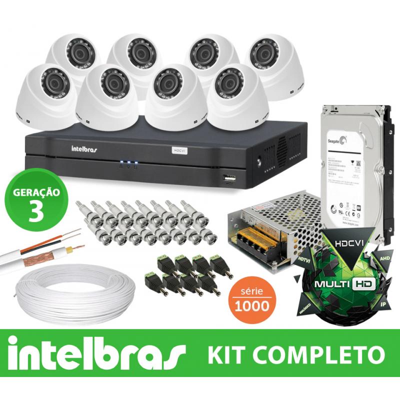 Kit Intelbras Completo Monitoramento Interno Ideal com Câmeras Dome em Alta Definição HD  - CFTV Clube | Brasil