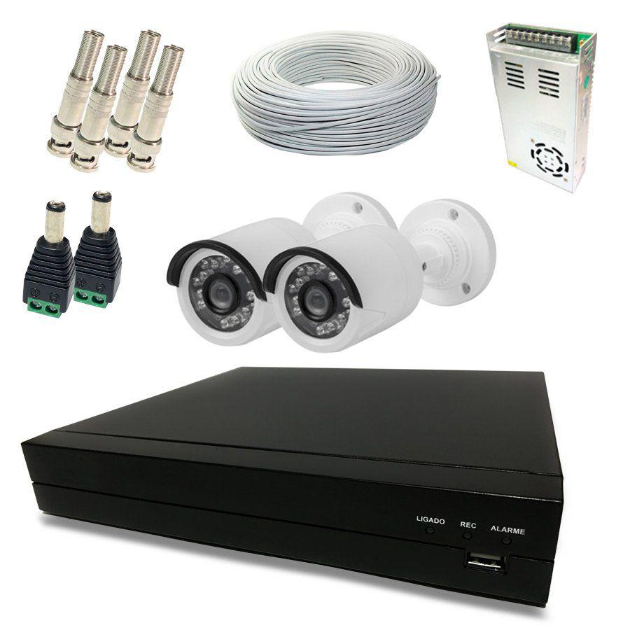 Kit Monitoramento Fácil HD - 2 Câmeras Externas 720p HD  - CFTV Clube | Brasil