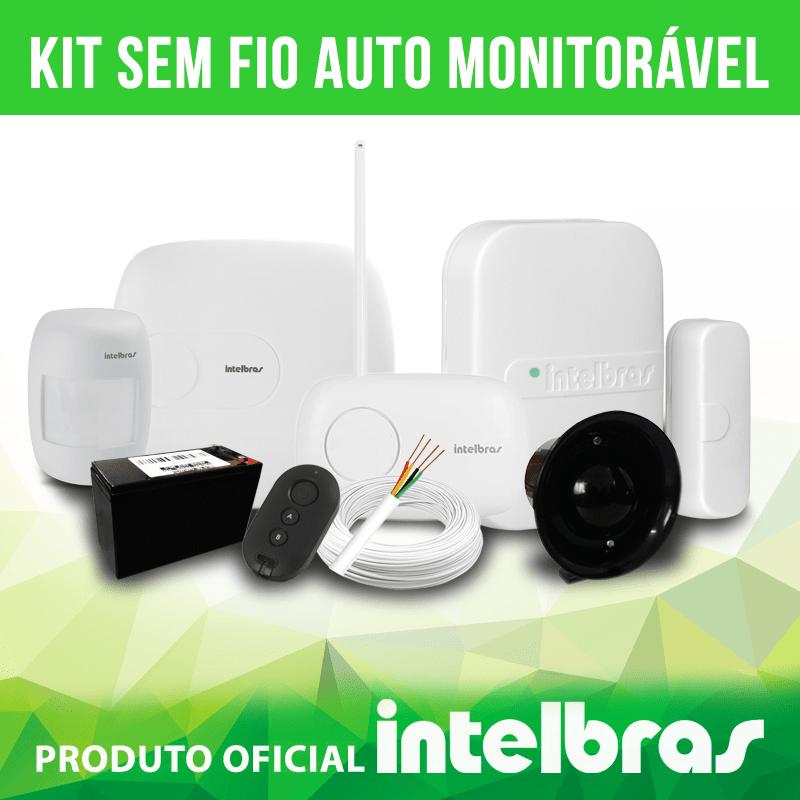Kit sem fio auto monitorável intelbras  - CFTV Clube | Brasil