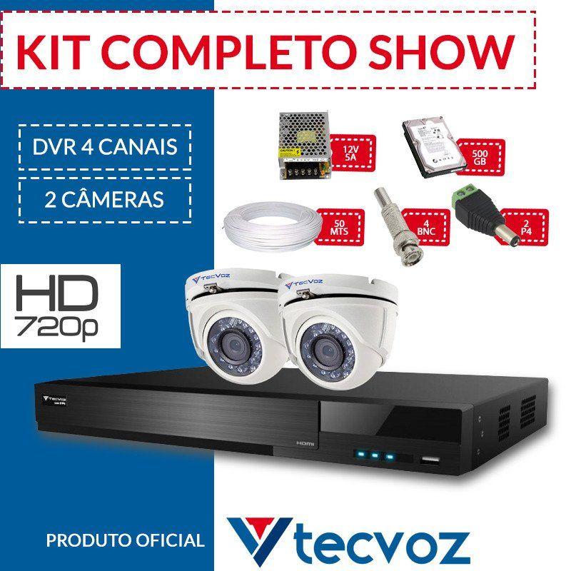 Kit Tecvoz Completo em Alta Definição - 2 câmeras internas HD  - CFTV Clube | Brasil