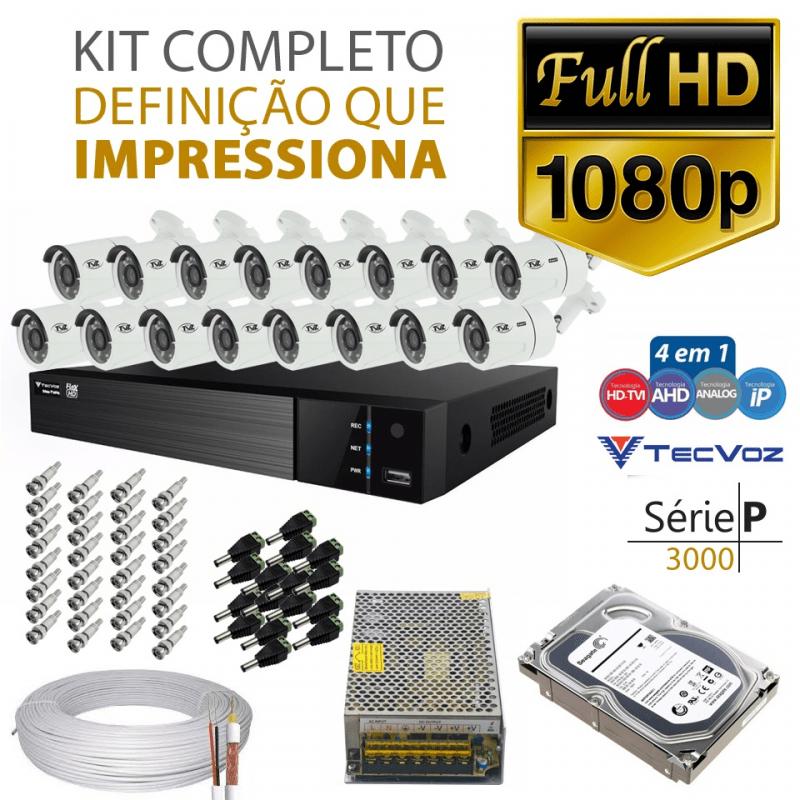 Kit Tvz Tecvoz 16 Câmeras Full Hd - Serie P3016  - CFTV Clube | Brasil