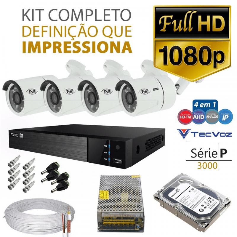 Kit Tvz Tecvoz 4 Câmeras Full Hd - Serie P3004  - CFTV Clube | Brasil