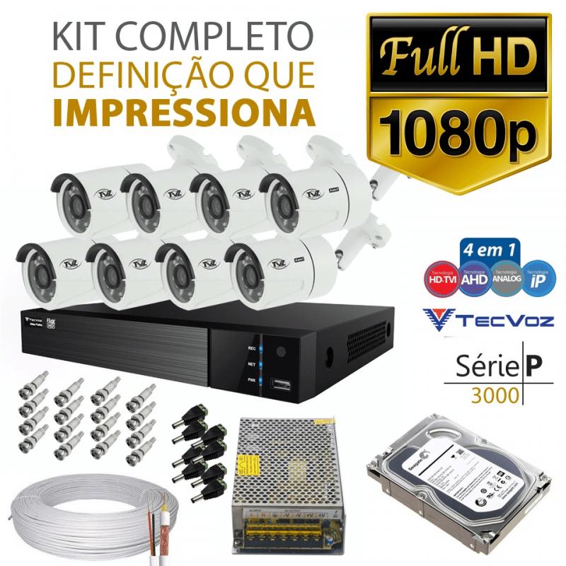 Kit Tvz Tecvoz 8 Câmeras Full Hd - Serie P3008  - CFTV Clube | Brasil