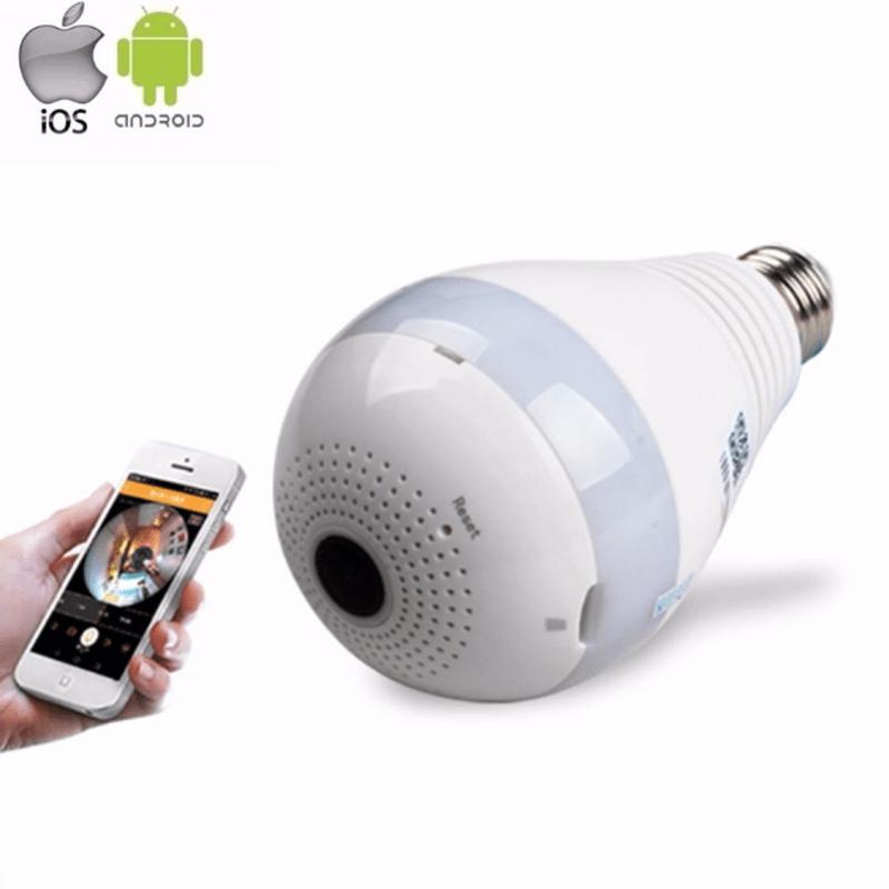 Lâmpada de Led Bulbo com Câmera Escondida 360° Wifi  - CFTV Clube | Brasil