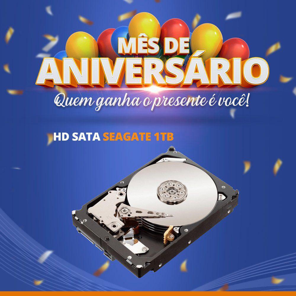 Mês de Aniversário - HD Sata Seagate 1TB  - CFTV Clube | Brasil